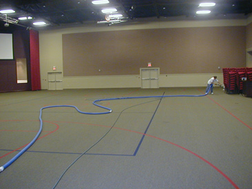 Carpet Cleaning In The Congregation Room At Harborside Christian Church